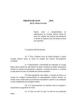 PROJETO DE LEI Nº , 2015