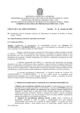 república federativa do brasil ministério da agricultura, pecuária e