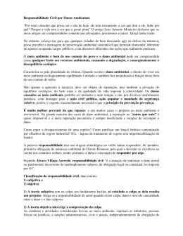 Artigo 141 - Responsabilidade Civil Ambiental