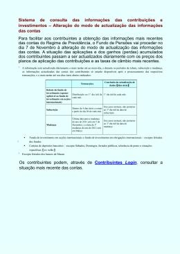 Sistema de consulta das informações das contribuições e