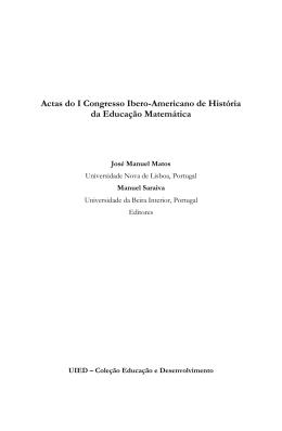 Actas do I Congresso Ibero-Americano de História da