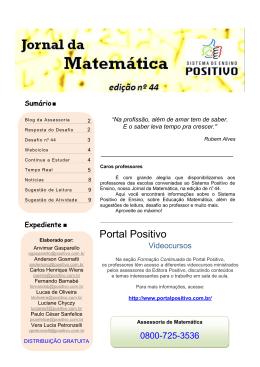 N 44 Jornal da Matematica SPE - Seção Blog