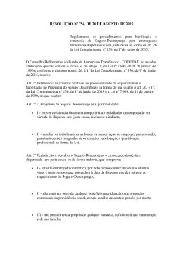 Resolução MTE Nº 754, de 26 de agosto de 2015