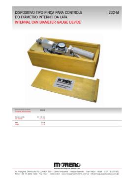 dispositivo tipo pinça para controle do diâmetro interno da lata