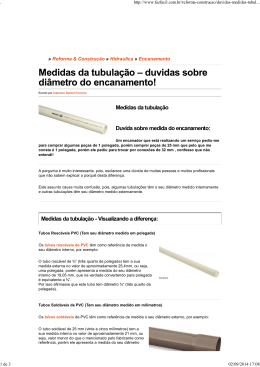 dúvidas- diâmetros de tubos