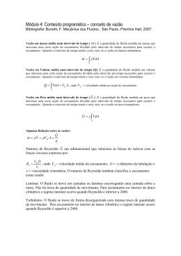 modulo 4 conceito de vazão