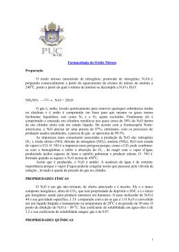 FARMACOLOGIA DOS GASES N2O E O2