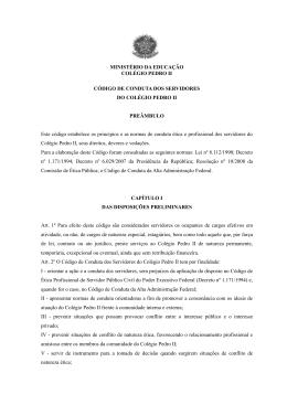 Código de Conduta dos Servidores do Colégio Pedro II