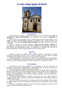 A mais antiga igreja do Brasil
