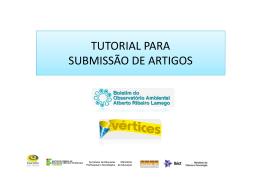 tutorial completo sobre o processo submissão
