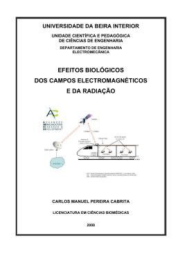 efeitos biológicos dos campos electromagnéticos e da radiação