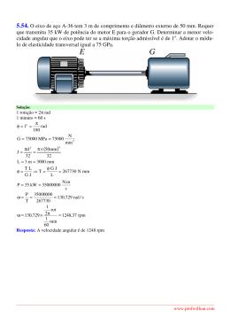 5.54. O eixo de aço A-36 tem 3 m de comprimento e diâmetro