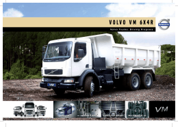 Especificações do Caminhão Volvo VM 6x4