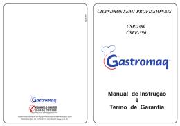 Manual de Instrução e Termo de Garantia