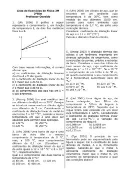 Lista de Exercícios de Física 2M 2ºBim Professor Osvaldo 1. (Ufu