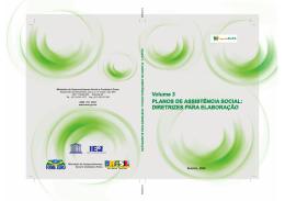 Caderno SUAS Volume 3 - Planos de Assistência Social