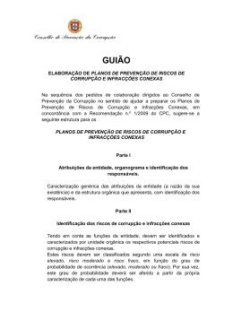 GUIÃO - Conselho de Prevenção da Corrupção