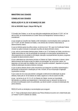 Resolução 25 do Conselho das Cidades
