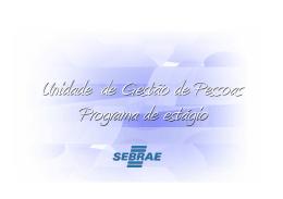 PROGRAMA DE ESTÁGIO