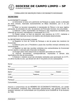 DIOCESE DE CAMPO LIMPO – SP
