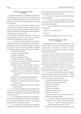 2262 DIÁRIO DA REPÚBLICA Despacho Presidencial n.º