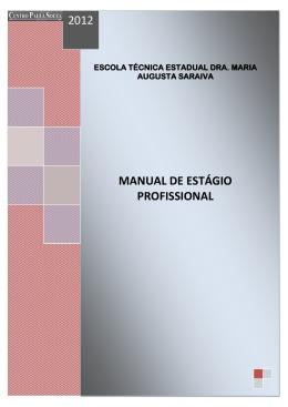 Manual de estágio - etec dra. maria augusta saraiva