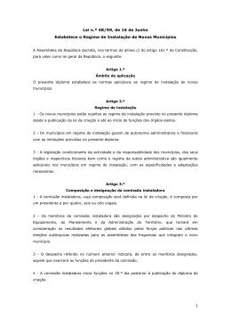 Lei n.º 48/99 de 16 de Junho - Terras Portuguesas