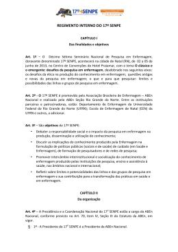 Regimento do 17º SENPE em formato PDF.