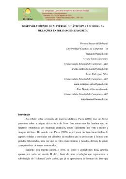 DESENVOLVIMENTO DE MATERIAL DIDÁTICO PARA SURDOS