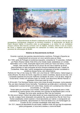 História do Descobrimento do Brasil Durante o período dos grandes