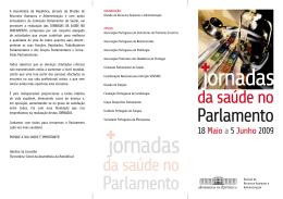 programação - Grupo Desportivo Parlamentar