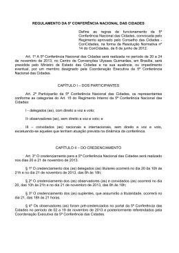 Regulamento aprovado da 5ª CNC