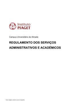 regulamento dos serviços administrativos e