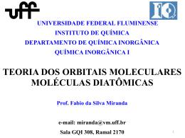 teoria dos orbitais moleculares moléculas diatômicas