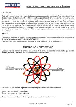 GUIA DE USO DOS COMPONENTES ELÉTRICOS www