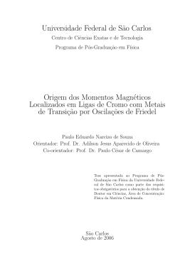 Origem dos momentos magnéticos localizados em ligas de cromo