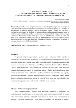 1 IDEOLOGIA E EDUCAÇÃO A EDUCAÇÃO PÚBLICA