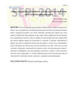 a educação pública no brasil e a relação da sociedade com o