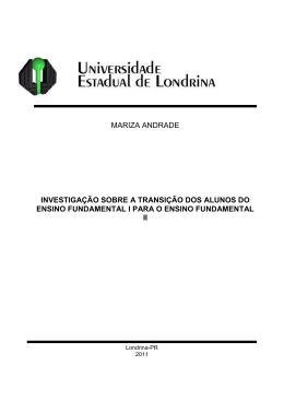 MARIZA ANDRADE INVESTIGAÇÃO SOBRE A TRANSIÇÃO