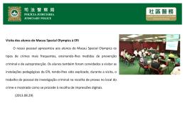 Visita dos alunos do Macau Special Olympics à EPJ O nosso