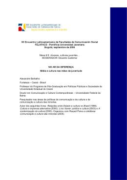 Autor dos seguintes livres: Relações entre Estado e cultura no Brasil