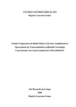Rogério Laureano Gomes Estudo Comparativo do Ruído Flicker