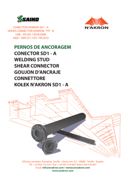Perno conector, shear connector N`AKRON