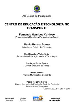 centro de educação e tecnologia no transporte