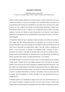 EDUCAÇÃO E TECNOLOGIA Daniel Nascimento-e
