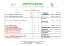 2° Semestre de 2015 - PPGE - Programa de Pós