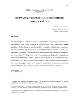 Recortes de Teoria e Prática - Prefeitura Municipal de Porto Alegre
