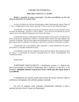 01/2009 - Tribunal de Justiça de Santa Catarina