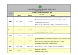 2015 - Calendário TRE-RJ - Suspensão de prazos - v. 2 - 25-09-15