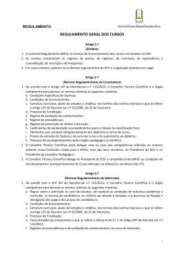 Regulamento Geral dos Cursos